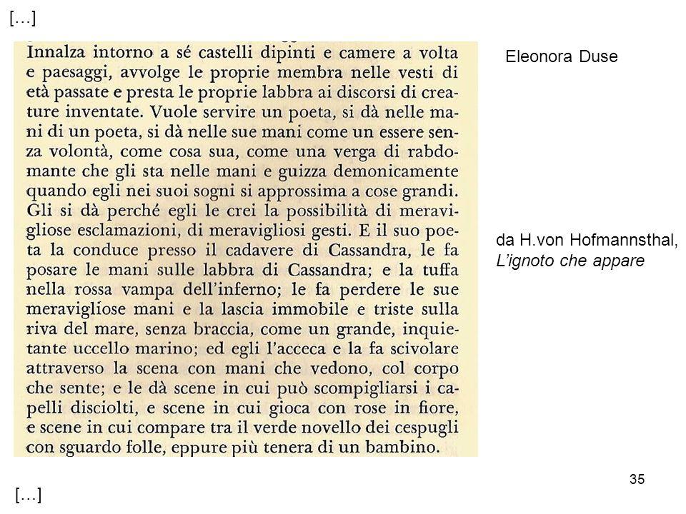 […] Eleonora Duse da H.von Hofmannsthal, L'ignoto che appare […]